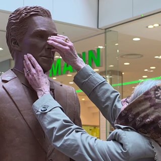 People Eating Benedict Cumberbatch Chocolate Statue