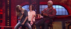 "Emily Blunt Grinds on Anne Hathaway During Her ""No Diggity"" Performance"