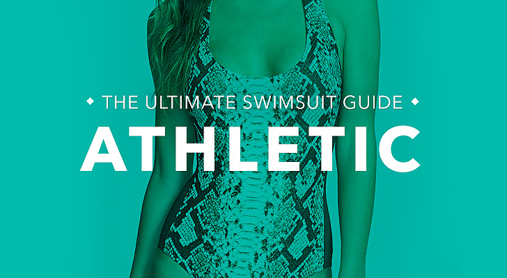 Athletic: You're more straight up-and-down and have fewer curves, like Cameron Diaz, Jessica Biel, and Jennifer Aniston. What to look for: The name of the game is playing up your curves with styles that flaunt your frame. Suits with less coverage help to create the illusion of a shapelier figure. Tips and tricks from Sabra Krock and Leslie Koren, fit and style experts for Everything but Water:  Tops or bottoms with bold prints, ruffles, and embellishments add intrigue and feminine flair and can create the appearance of more curve at top and bottom. Monokinis create fabulous curves, as do one-pieces with slashes or strategically placed cutouts. The smaller the swimsuit bottom, the fuller and curvier the derriere appears. Tie-side bikini bottoms enhance curves and adjust perfectly to your size.