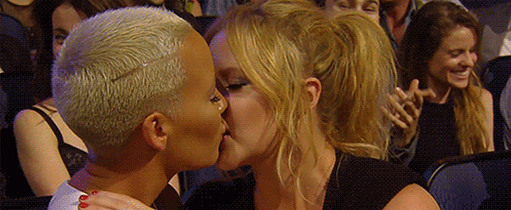 Amber Rose and Amy Schumer Just Totally Made Out at the MTV Movie Awards