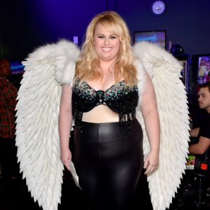 Rebel Wilson's Angel Wings at the 2015 MTV Movie Awards