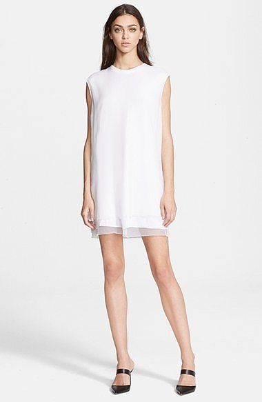 BLK DNM Dress 82 Layered Hem Silk Shift Dress ($375)