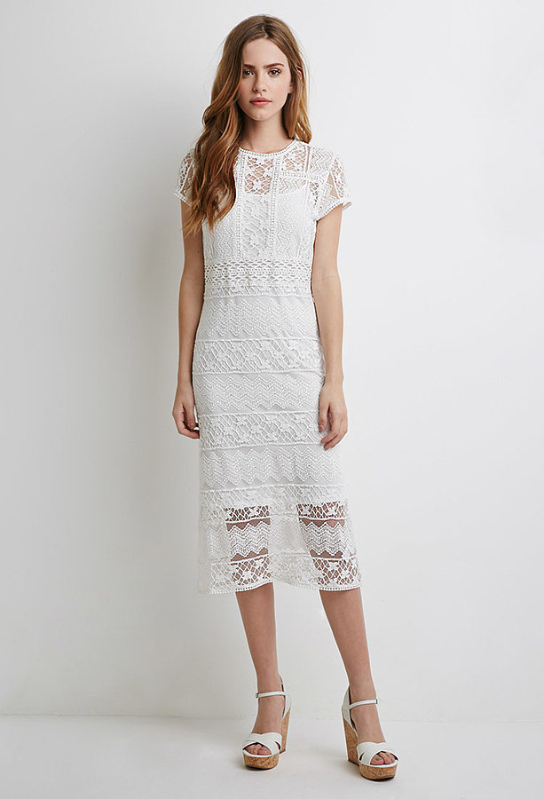 Forever 21 Semi-Sheer Ornate Crochet Dress ($30)