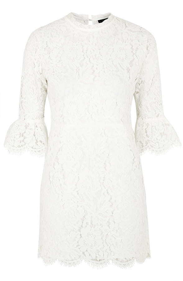 Topshop Bell Sleeve Lace Shift Dress ($125)