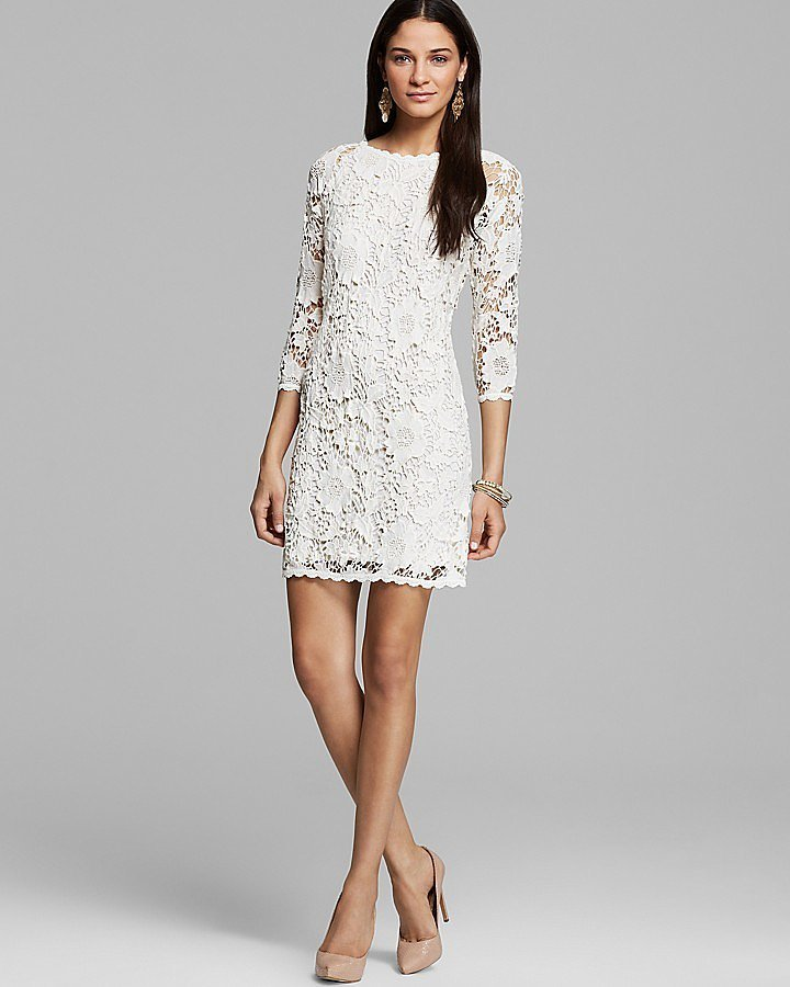 Velvet by Graham & Spencer Leslea Crochet Lace Dress ($150)