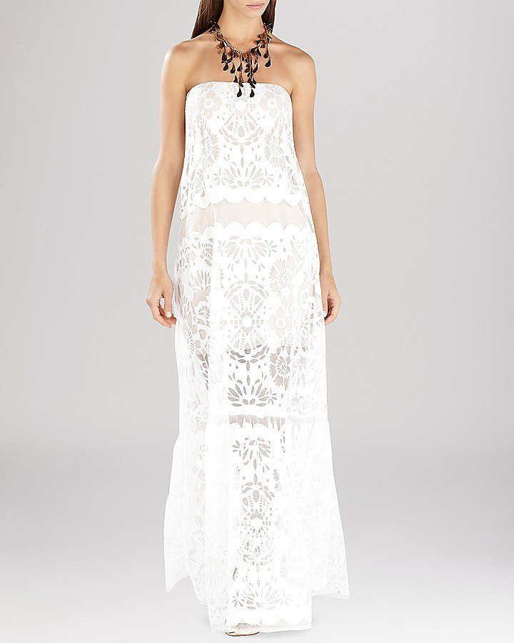 BCBG Max Azria Melannie Strapless Lace Dress ($428)