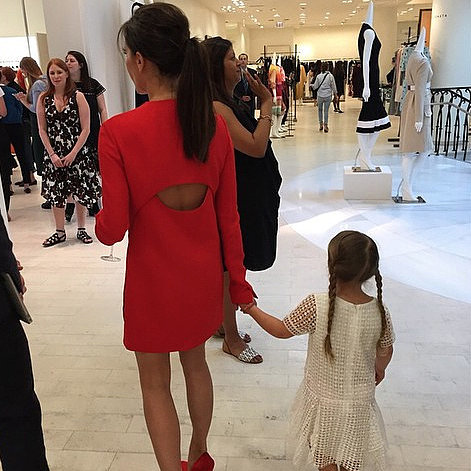 Victoria Beckham With Harper at Barneys