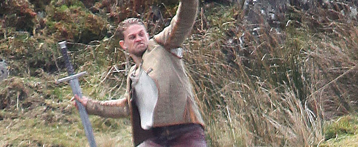 Charlie Hunnam Wields a Giant Sword on the Set of Knights of the Roundtable