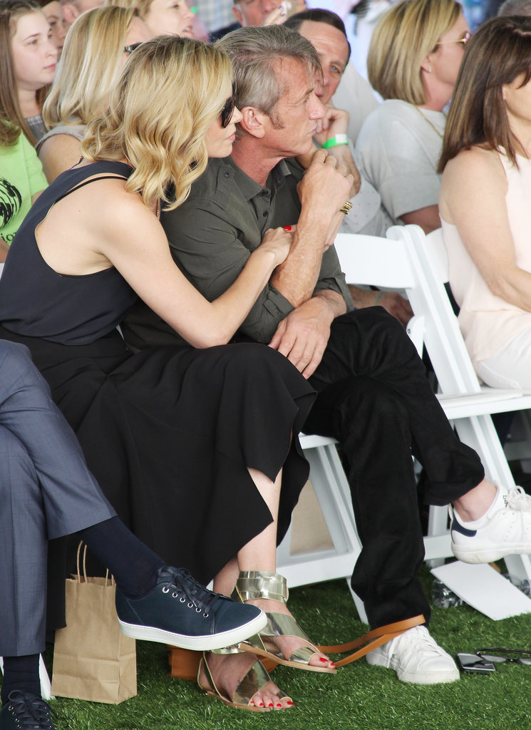 Charlize Theron and Sean Penn Pack Their Family Day With PDA and Snow Cones!