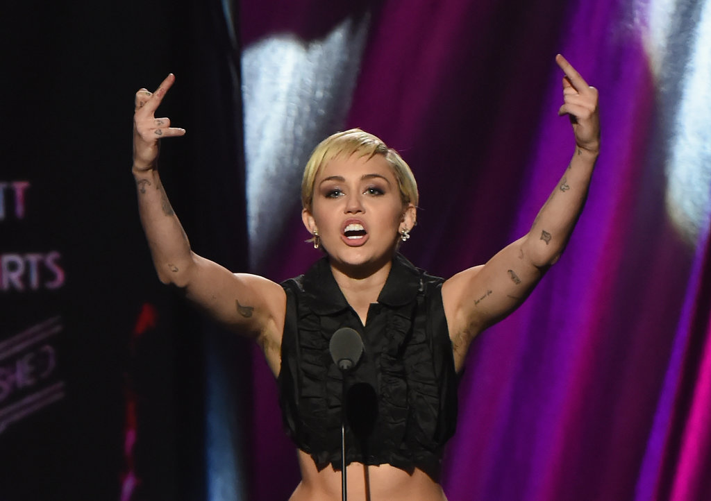 Miley Cyrus has an armpit moment that leaves her fans split