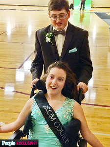 High School Couple with Disabilities Crowned Prom King And Queen