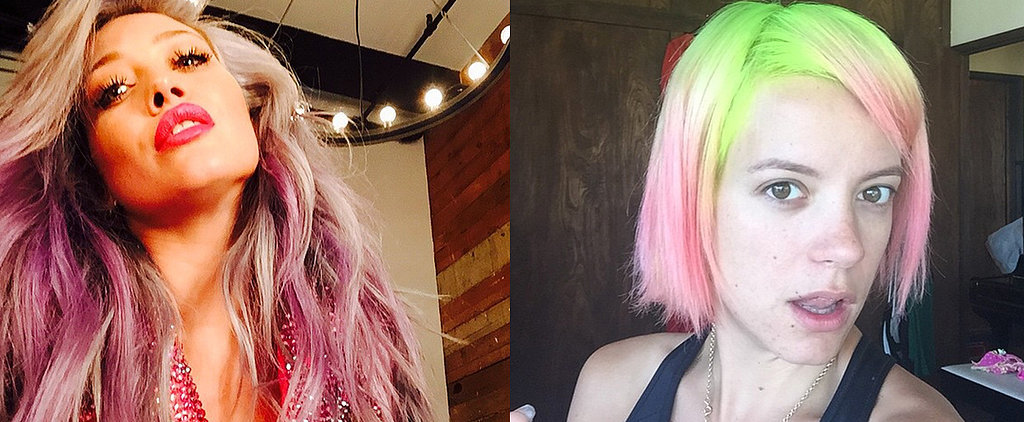 Hilary Duff Is the Latest Celebrity to Rock Rainbow Hair