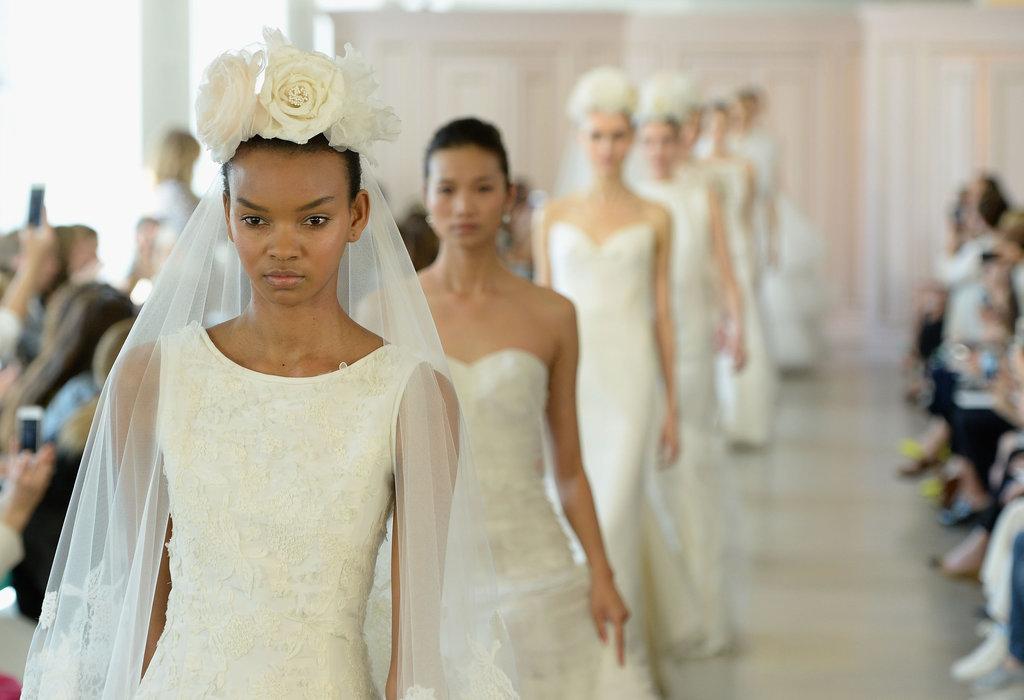 Bridal fashion week wedding dress trends spring 2016 popsugar