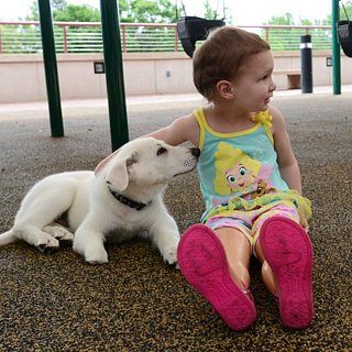 Girl Without Feet Gets Puppy Without a Paw