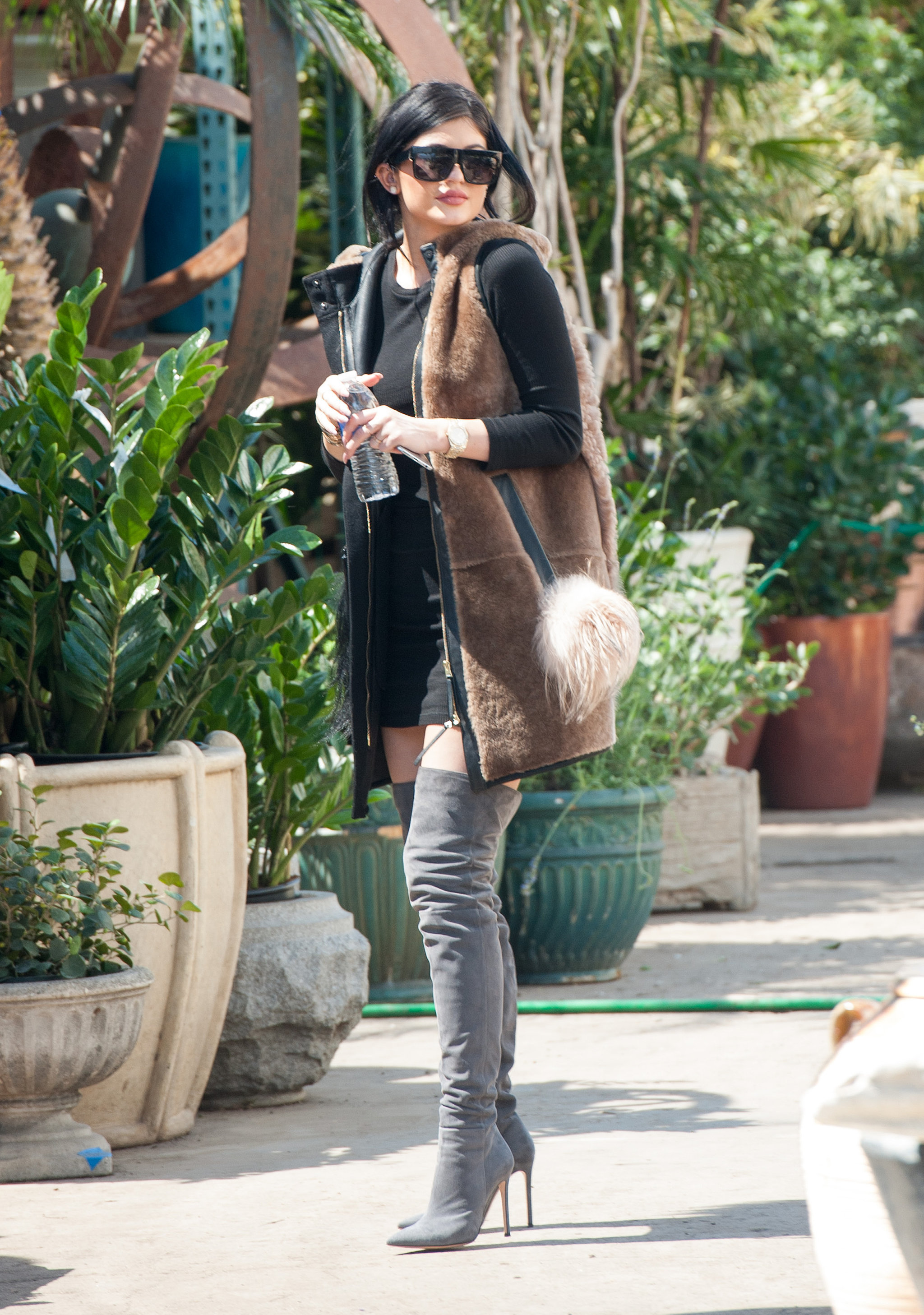 Kylie Loves Those Thigh-high Boots.