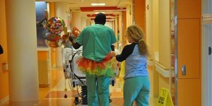 These Hospital Employees Wear Zany Tutus To Brighten Kids' Days