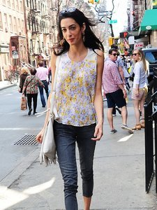 Look We Love: Amal Clooney's Fringe and Floral Ensemble