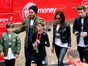 David and Victoria Beckham 'So Proud' After Son Romeo Runs London Marathon (PHOTOS)