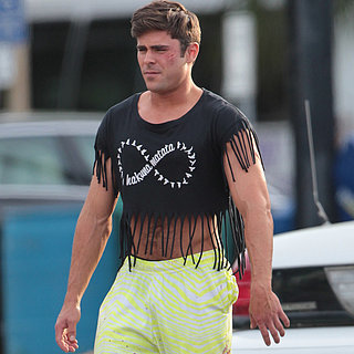 Zac Efron Wearing a Crop Top on the Set of Dirty Grandpa