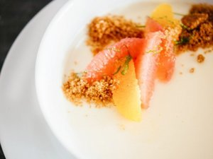Citrus Posset With Graham Cracker Crumble