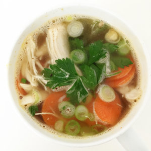 Homemade Chicken Noodle Soup Recipe in a Microwave