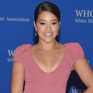Gina Rodriguez Uses Fake Belly to Her Advantage