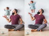 This Newborn Photo Shoot Completely Defies the Laws of Physics