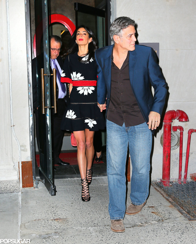 Dinner in NY with the inlaws 28 of April 2015 Amal-Alamuddin-George-Clooney-Her-Parents-Photos