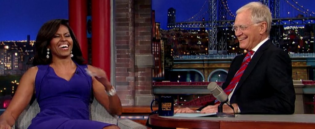 Michelle Obama Fearlessly Offers to Help Raise David Letterman's Child