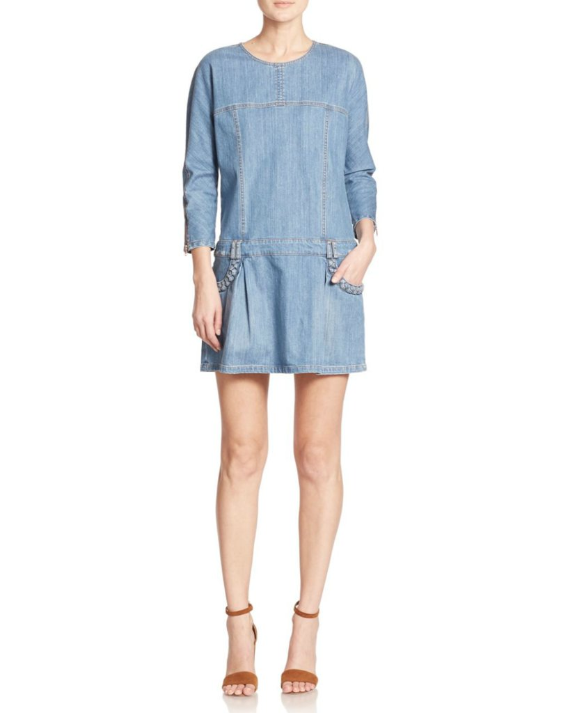 See by Chloe Drop-Waist Denim Dress