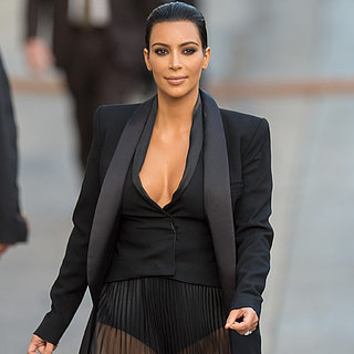 Kim Kardashian's Sheer Dress on Jimmy Kimmel Live! 2015