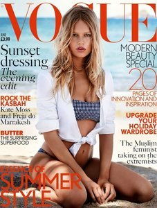 Anna Ewers Is Beach-Perfect On Her First Cover Of Vogue UK