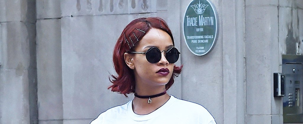 Rihanna Channels '90s Grunge With New Maroon Hair