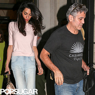 Amal Alamuddin With George Clooney and Her Parents | Photos