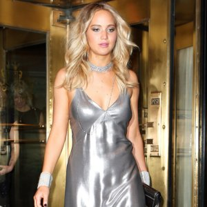 Jennifer Lawrence Silver Dress at 2015 Met Gala After-Party