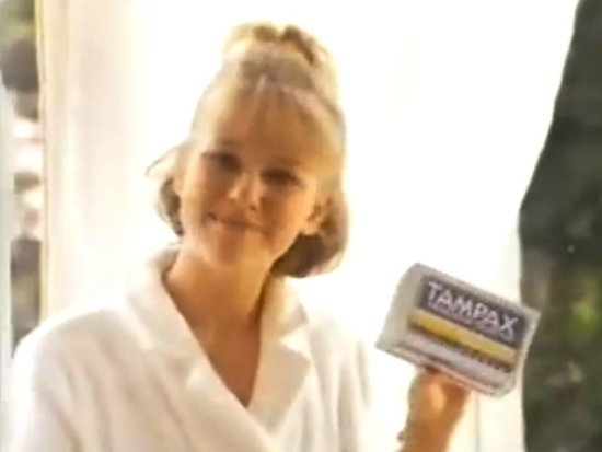 Watch Naomi Watts in this 1980s Tampax Tampon Ad