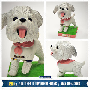 Hank the Ballpark Pup Returns With a Mother's Day Bobblehead