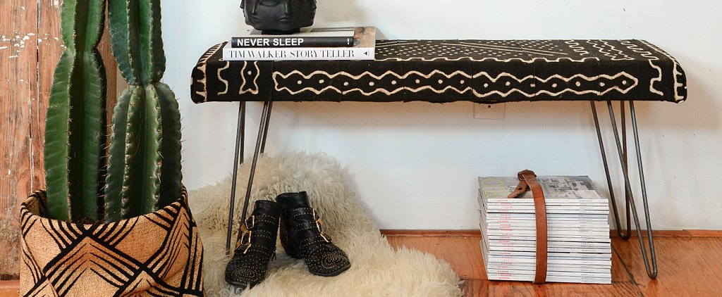 This DIY Upholstered Bench Is the Perfect Addition to Any Home