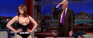 Tina Fey Strips Down to Her Underwear to Say Goodbye to David Letterman