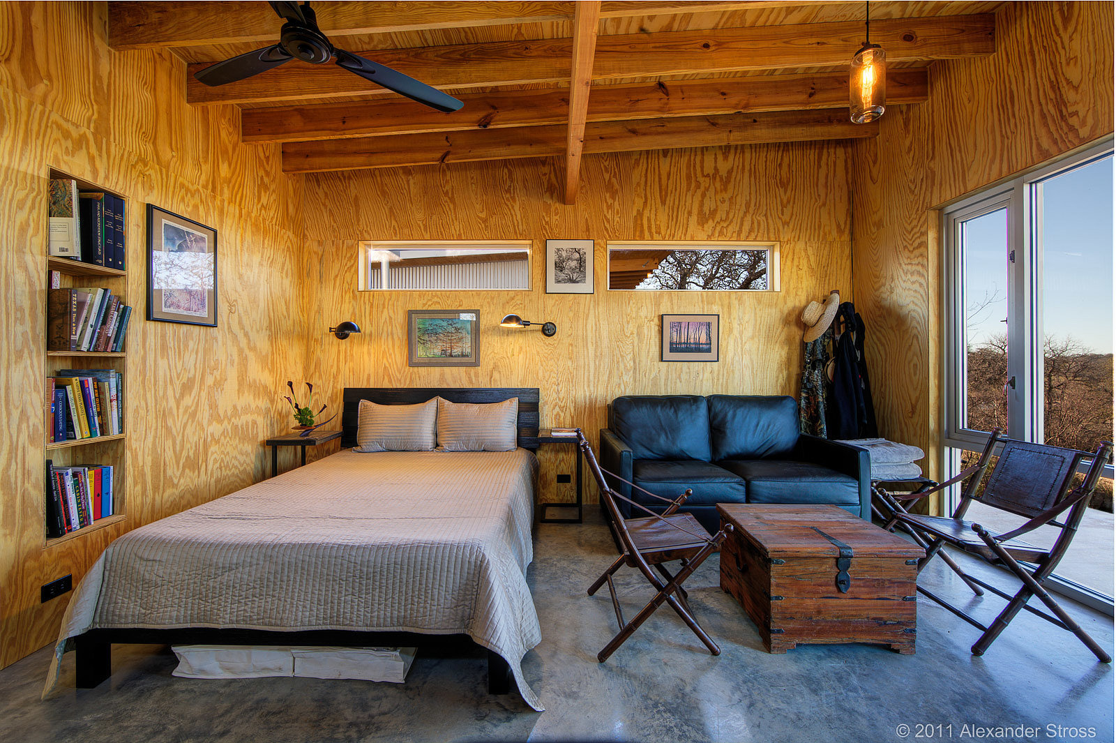 The cabin interiors are a blend of rustic and modern design bestie row takes the small Modern cabin interior design
