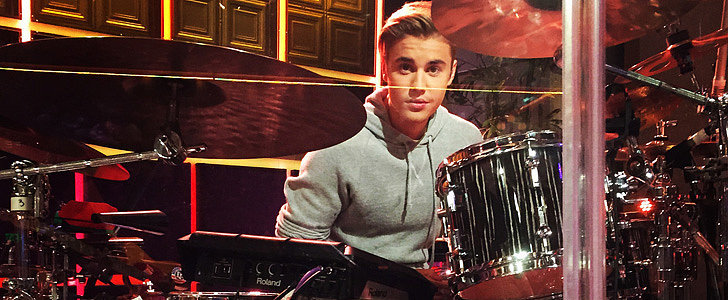 Justin Bieber Unexpectedly Stopped by The Late Late Show to Play Drums