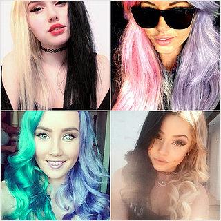 Split-Dyed Hair Color