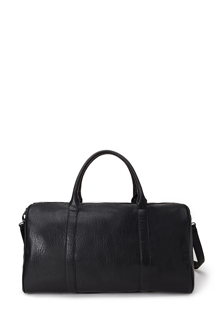 Forever 21 Pebbled Faux Leather Weekender