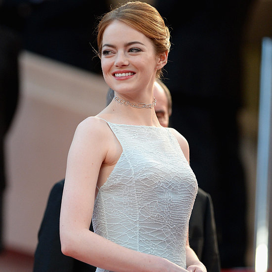 Emma Stone's White Dress at Cannes Film Festival 2015