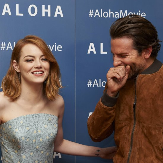 Emma Stone and Bradley Cooper Giggle on Aloha Red Carpet