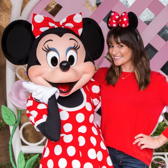 Lea Michele at Disneyland With Matthew Paetz Pictures
