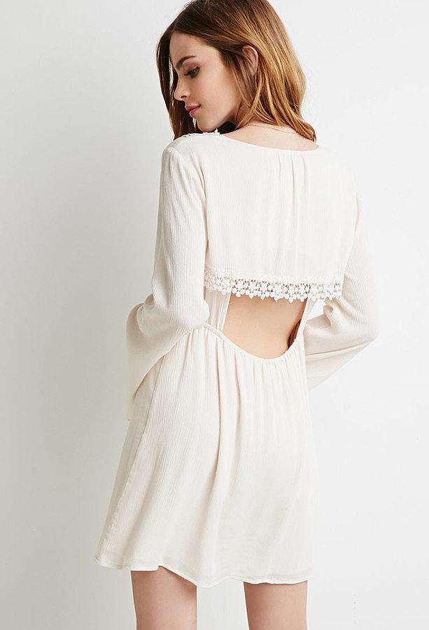 Forever 21 crochet-trimmed babydoll dress ($30)