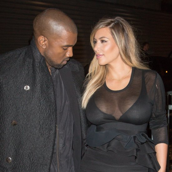 Pictures of Kanye West Checking Out Kim Kardashian