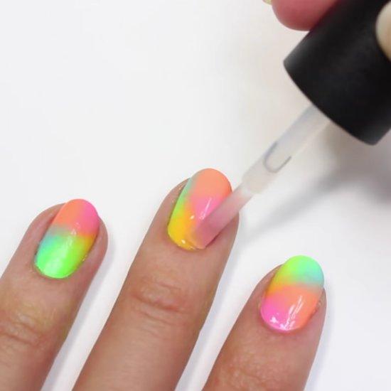 Sponge-On Ombre Nail Art DIY