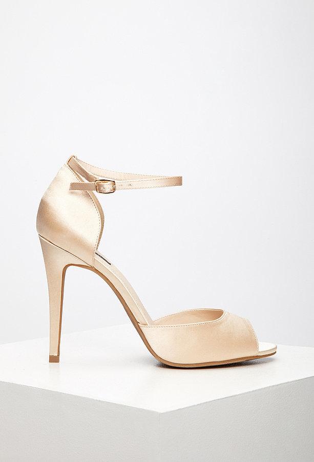 Forever 21 Satin Ankle-Strap Stilettos